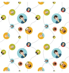 social network flat seamless pattern vector image vector image