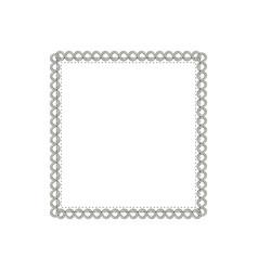square elegant frame icon vector image