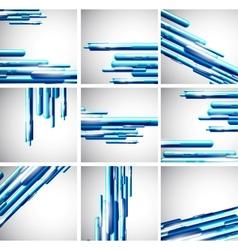 Straight liquid line background set vector