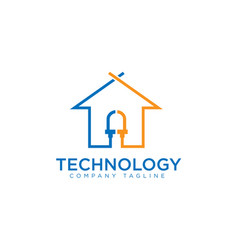 technology house vector image vector image