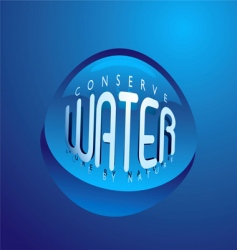water droplet nature vector image vector image