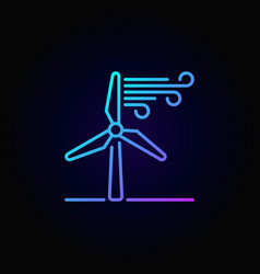 wind energy linear colorful icon vector image vector image