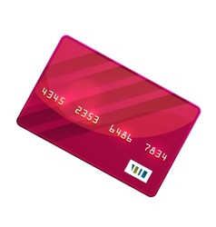 Color credit card vector