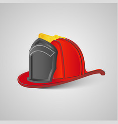 Real firefighter helmet vector