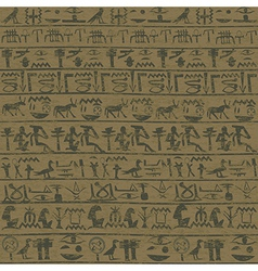 Ancient wall with egyptian hieroglyphs grunge vector