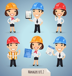 Manager in helmet set1 2 vector