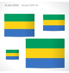Gabon flag template vector