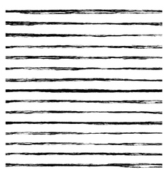 Set of black brush strokes vector