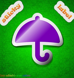 Umbrella icon sign symbol chic colored sticky vector