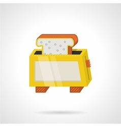 Yellow toaster flat color icon vector