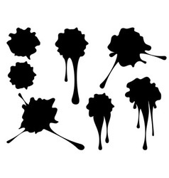 Grunge black splatter2 vector