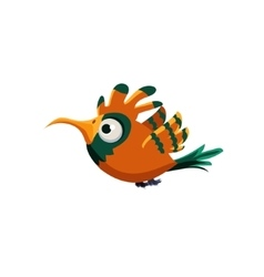 Orange paradise bird vector