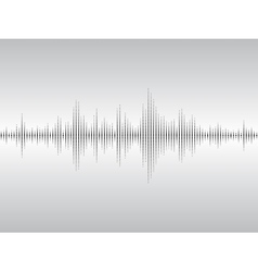 Abstract sound waves vector