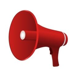 Red cartoon megaphone vector