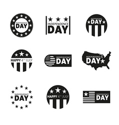 Label and tag set independence day 4th of july vector