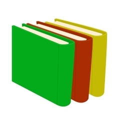 Stack of books icon in cartoon style vector