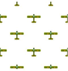 Army biplane pattern flat vector