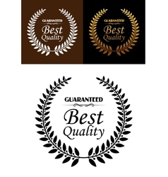 Best quality guaranteed label or emblem vector