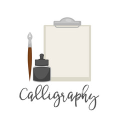 calligraphy simple tools isolated cartoon vector image vector image