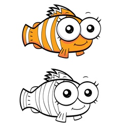 Cartoon clown fish vector image