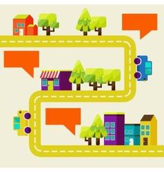 Cityscape info graphics charts vector