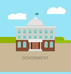 Colored urban government building vector