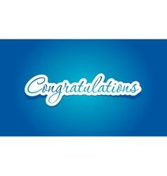 Congratulations lettering vector image
