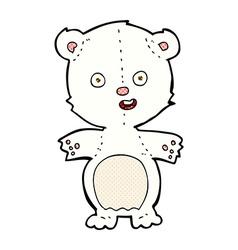 Cute polar bear comic cartoon vector