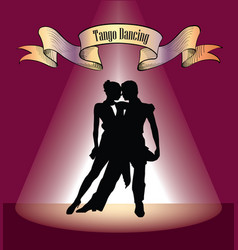 Dancing club poster couple dancing beautiful vector