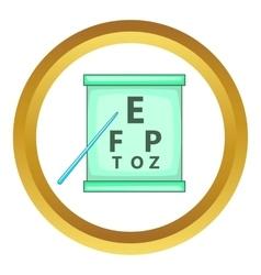 Eye test icon vector