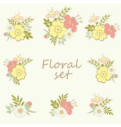 Floral elements set vector