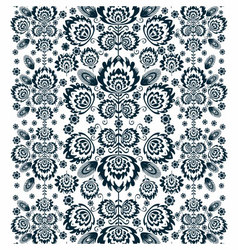 Folk Pattern With Flowers A vector image