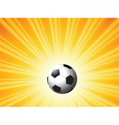football on star burst vector image vector image
