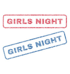 girls night textile stamps vector image vector image