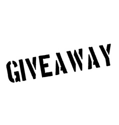 Giveaway black rubber stamp on white vector