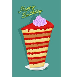 Happy birthday big cake lots of biscuits vector image