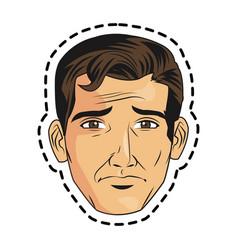 Isolated man cartoon design vector
