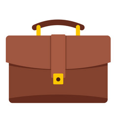 Leather briefcase icon isolated vector