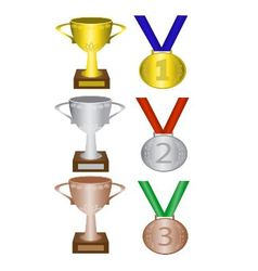 medals and trophies vector image