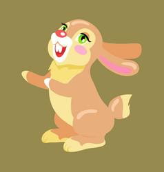 Milk chocolate bunny sweetness holiday mascot vector