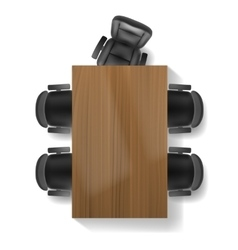 Office chair and table top view vector image