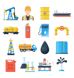 oil industry icon vector image