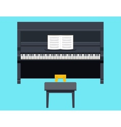 Piano Icon Concept Symbol Flat Design on Stylish vector image vector image