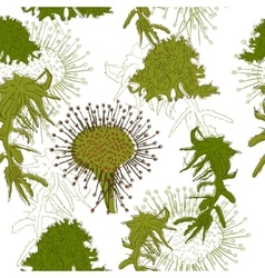 Seamless texture in eco style vector