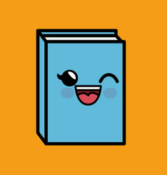 Text book character handmade drawing vector
