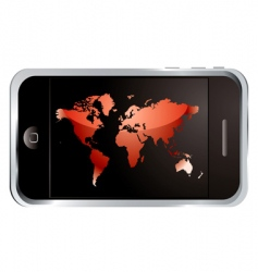 world phone vector image