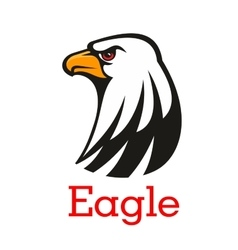 Eagle hawk mascot emblem vector