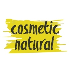 Natural cosmetics hand drawn isolated label vector image