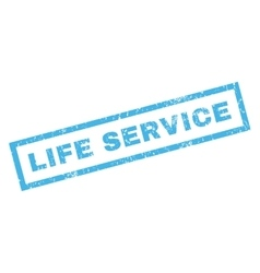 Life service rubber stamp vector