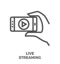 Live streaming icon vector